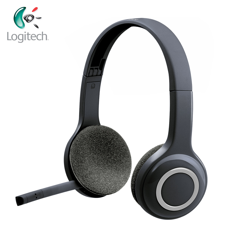 Logitech H600 Wireless Headset with Noise Canceling MIC Nano for Almost Platforms Operating Systems Support Offical