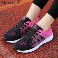 Akexiya tênis de corrida verão para as mulheres leve ao ar livre jogging barato quazapatos para correr sapato esporte respirável feminino