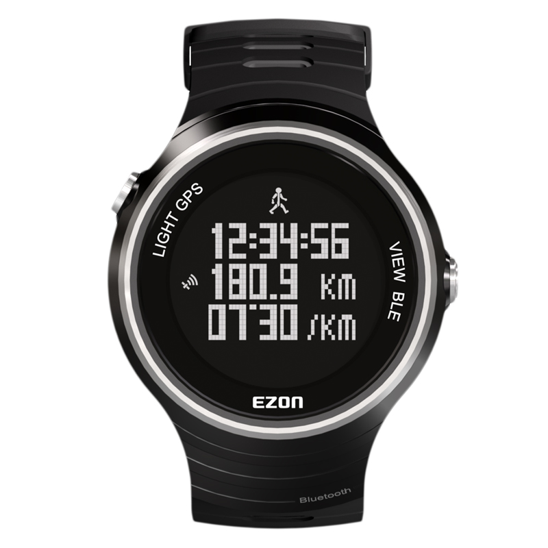 Promotion EZON Top Selling G1A01 GPS Bluetooth Smart Intelligent Sports Smart Watch for IOS7.0 Android4.3 Phone Free shipping latest hi watch 2 bluetooth smart watch phone watch gps positioning micro letter generations for apple android ios phone