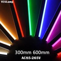 LED チューブ T5 ランプ 110V 220V 230V と 240V スイッチチューブ 30 センチメートル 60 センチメートル 6 ワット 10 ワット Led ウォールランプウォームコールドホワイトレッドブルー