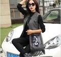 Últimas mulheres da moda primavera colete elegante decote em V impressão borla médio longo Ma3 jia3 Street Style lazer magro mulheres Vest G2165
