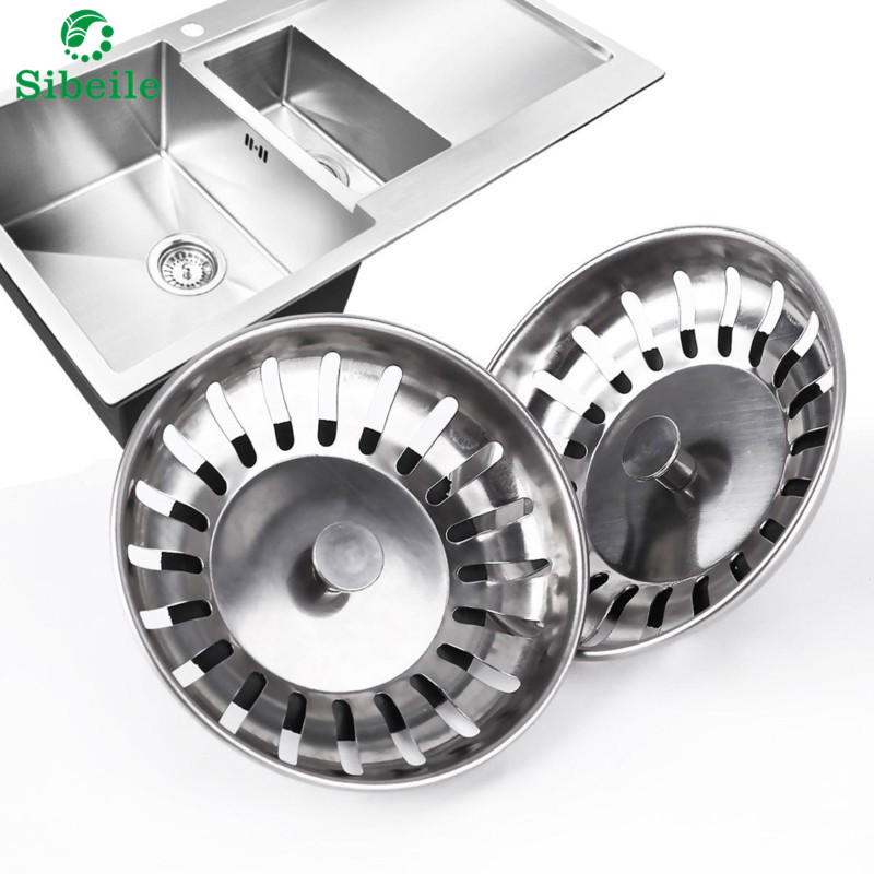 High Quality 1pc 304 Stainless Steel Kitchen Sink Strainer Stopper Waste Plug Sink Filter Bathroom Basin Sink Drain Kitchen Tool