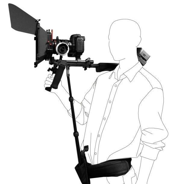 DSLR Rig Support Rod/ Belt Fit Shoulder / Waist Mount For Video Camcorder Camera DV/DSLR new dslr rig support rod belt fit shoulder mount video camcorder camera dv dslr with tracking number