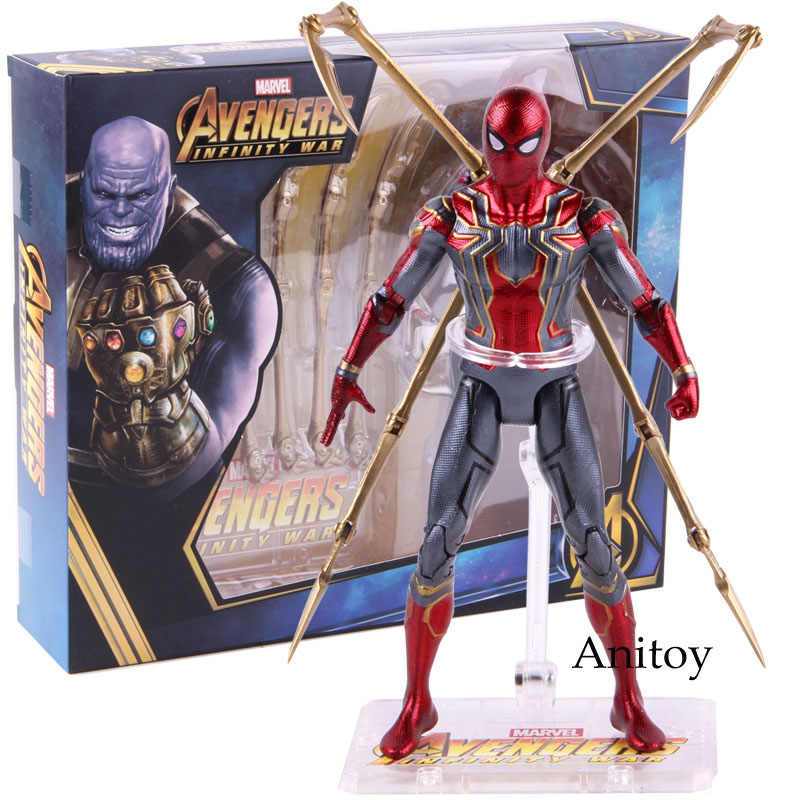 Hot Toys Marvel Avengers Infinity War Besi Laba-laba Spiderman Action Figure PVC Spider Man Figure Collectible Model Toy 17 Cm