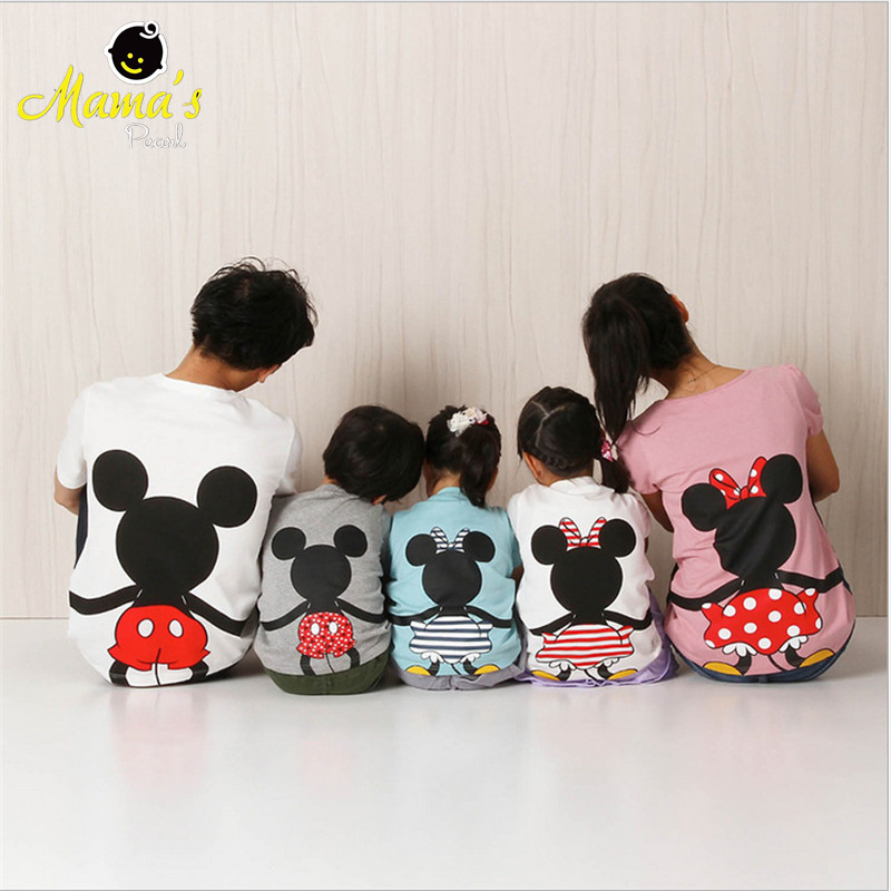 2016-Summer-Family-Matching-Outfits-Short-Sleeve-T-shirts-Mother-Father-Baby-Son-Daughter-Cute-Clothes