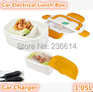 Free shipping car charger electrical lunch box automobile heating bento food container lunch box for travel
