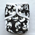 1 Newborn Baby Cloth Diaper Cover, Nappy Adjustable Waterproof PUL Double Gusset,Skull,Skeleton,Jack, 8-10lbs,3-5kg