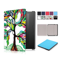 Kindle Oasis 7 Flip PU Leather Case Cover 7 E Reader E Book Colorful Print Ebook