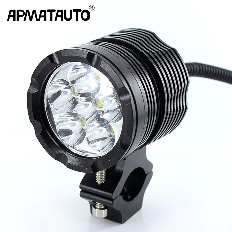 1X White 6000K 8000LM Super Bright With CREE Chip LED Motorcycle Headlight Fog Spot HeadLamp Spotlight Waterproof Motorbike Bulb kinklight 08210 01 3000 6000k