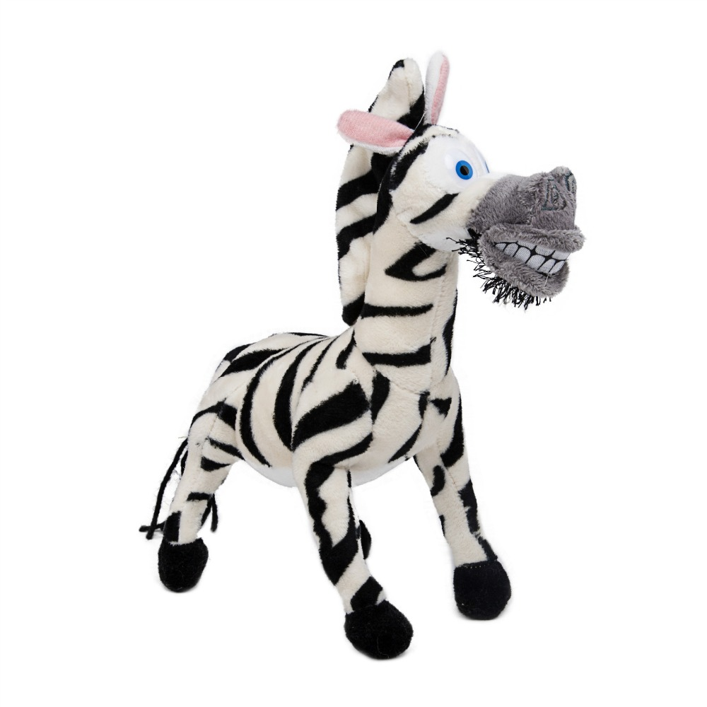 Uncategorized Marty Zebra madagascar plush penguin animals toyslion alex zebra marty giraffe melman hippopotamus gloria pelucia brinquedo juguete 20 30cm in stu
