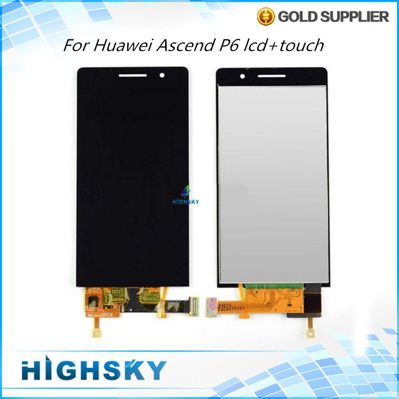 10 Pieces Free DHL EMS Original Test New Black White Screen For Huawei Ascend P6 LCD Display With Touch Digitizer Complete
