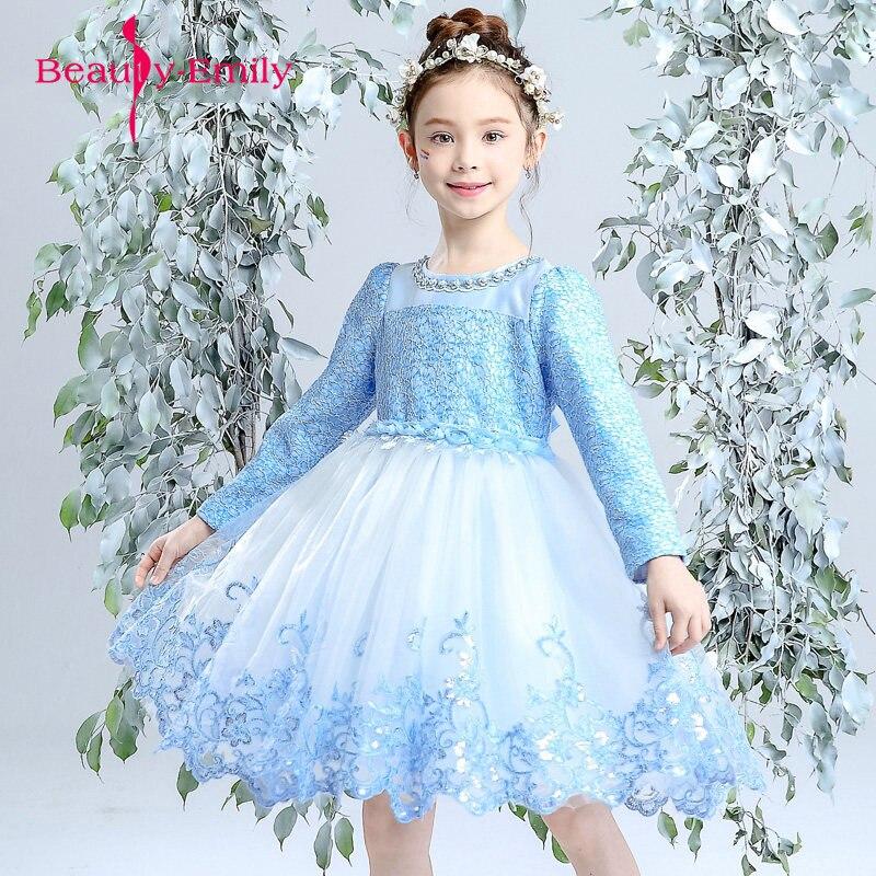 Long sleeves Lace   Flower     Girl     Dresses   for wedding Cheap   flower     girl     dress   Vestido daminha In stock   dress   for children dancing