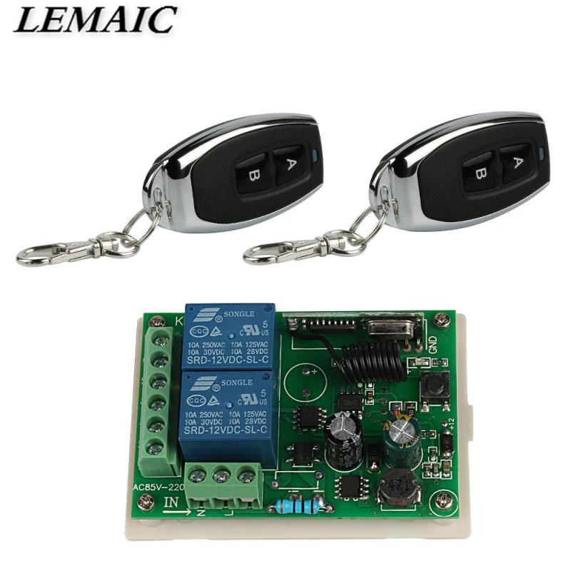 433 Mhz Universal Wireless Remote Control Switch AC 85V ~ 250V 110V 220V 2CH Relay Receiver Module And RF 433Mhz Remote Controls 85v 250v remote relay control switch 8ch receiver