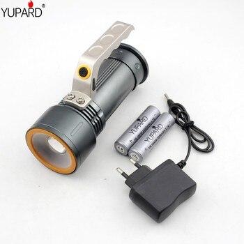 YUPARD XM-L2 LED T6 LED zoomable Đèn Pin white red light khẩn cấp Spotlight Tìm Kiếm Ánh + 18650 pin sạc + sạc