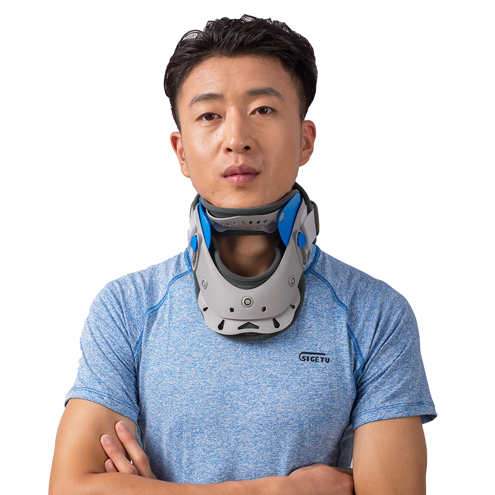 Neck Cervical Traction Collar Device Brace Support Hard Plastic for Headache Neck Pain Hight Adjustable one size fit most neck cervical traction collar device brace support hard plastic for headache neck pain hight adjustable one size fit most