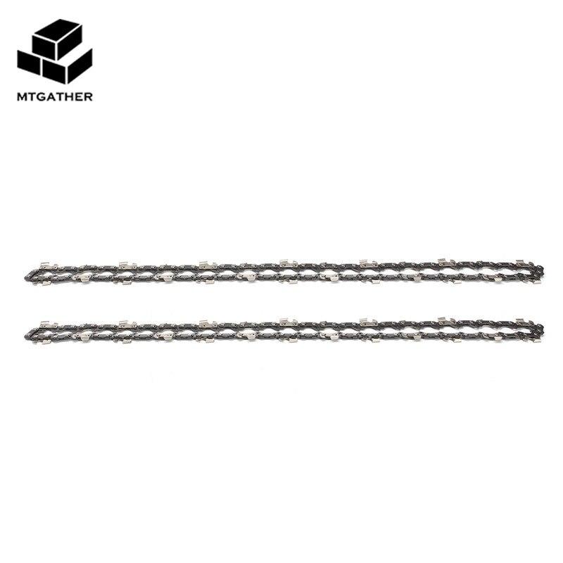 Mtgather 2x14 pulgadas 52 enlace Motosierras Sierras cadena enlace tono 3/8lp 050 calibre Motosierras hoja para Herramientas de jardín