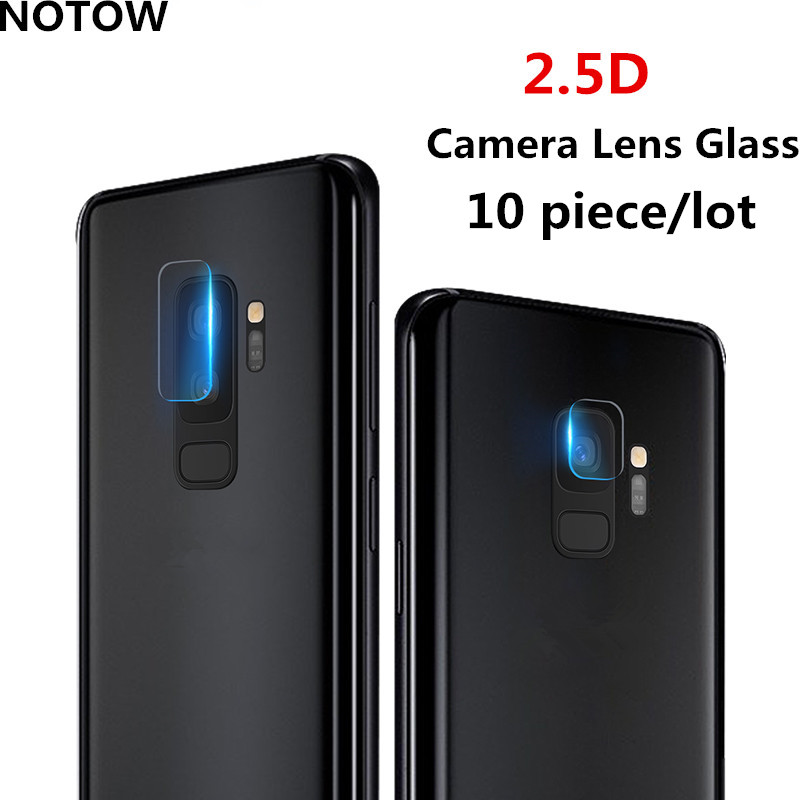 NOTOW 10PCS 7.5H 2.5D flexible Rear Transparent Back Camera Lens Tempered Glass Film Protector Case For Samsung Galaxy S9/s9plus