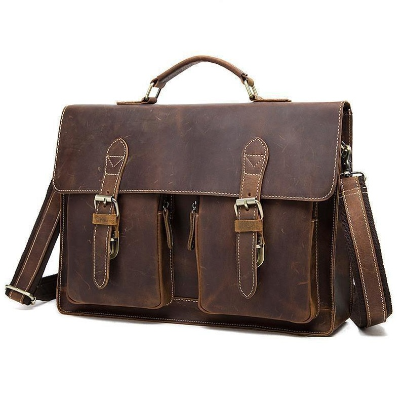 YUPINXUAN Vintage Crazy Horse Briefcases Men Genuine Leather Messenger Bags 14 Laptop Handbags Cow Leather Business Bag Russian ylang vintage crazy horse cowhide briefcases men messenger bags 15 laptop handbags genuine leather briefcase business bag