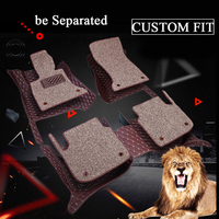 RKAC Double layer fabric Custom car floor mats for Mercedes Benz S class W220 S280 S320 S350 S500 S600 L car styling rugs carpet