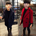 Alta calidad Nuevo color del caramelo del otoño invierno turn down collar abrigo de lana niñas roupas infantis 2 ~ 8 edad niños chaqueta de la ropa