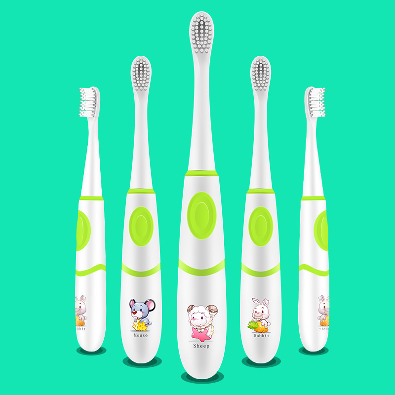 Children sonic Electric Toothbrush,4 Brush head,Battery Powered Waterproof Oral Hygiene Health Chinese Zodiac brush,4 brush head ultra soft children kids cartoon toothbrush dental health massage 1 replaceable head outdoor travel silicone retractable folding