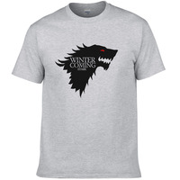 2017 Game Of Thrones T Shirt Men Wolf Printed Fashion Tops Winter Is Coming Man Summer