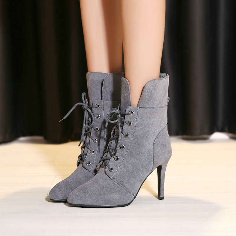 2018 Checked Pour Style Jusqu'à Taille black Checked 34 Hiver yellow Plush Checked 43 Mince Cheville Femmes Martin Plush Haute Femme Rome La Checked Dentelle Pompes red grey Plush Chaussures red Plus grey Automne Talons Bottes Black 0NwOvm8n