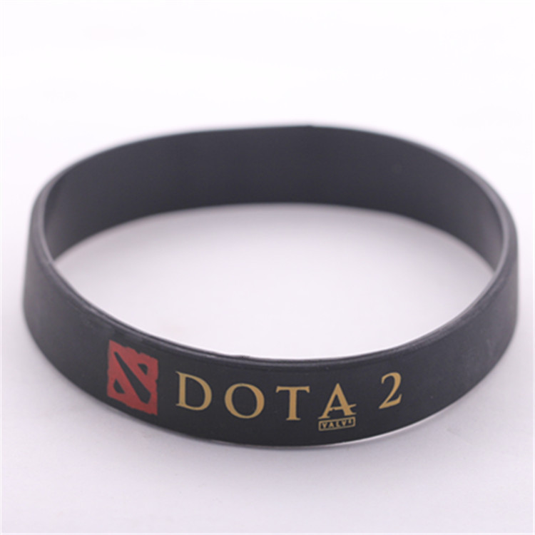 Games DOTA 2 Silicone Rubber Bracelets Men Women Anime Bracelet Dota2 Wristband Braslets Pulseiras Carry Support Solo Braclet
