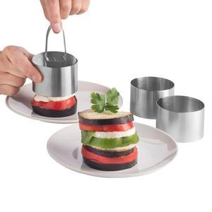 Image 4 - Molde para hornear ensalada, herramientas para hornear manualidades, molde para magdalenas, ensalada, postre, Mousse, anillo, pastel, queso, herramienta de acero inoxidable