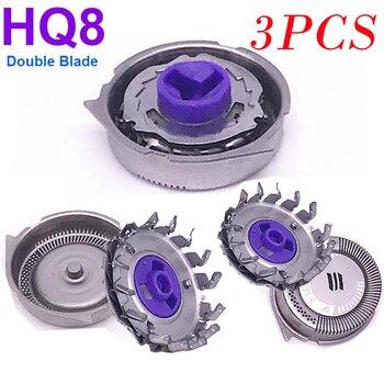 3 uds nuevo cabezales de afeitado de repuesto HQ8 para Philips Norelco hoja de afeitar AT750 AT751 AT890 AT891 HQ7120 HQ7100 HQ7140 HQ7160 HQ7180
