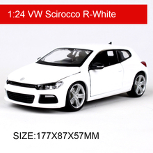 Bburago 1:24 VW Scirocco R Diecast Model Car Metal Car Kids Toys Car simulation model For Gift Collection