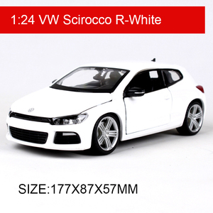 Image 1 - Bburago 1:24 VW Scirocco R Diecast Model Car Metal Car Kids Toys Car simulation model For Gift Collection