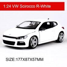 Bburago voiture 1:24 VW Scirocco R Diecast, modèle de voiture en métal, jouets pour enfants, modèle de simulation pour Collection cadeau