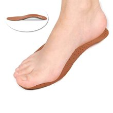 PU Leather latex orthopedic insole antibacterial active carbon orthotic arch support instep cowskin flat foot shoe pad TQ