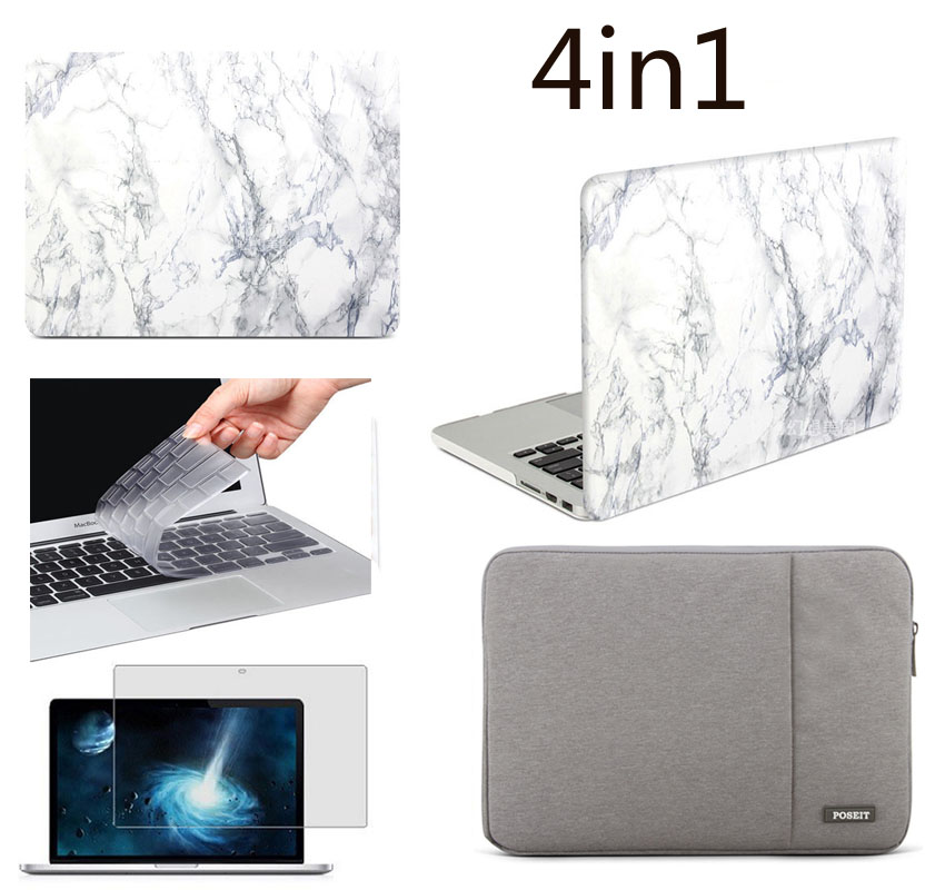 """Rubberized Hard Case+Keyboard Cover+LCD Film For Apple Mac Book Air 11/""""// 13/"""" Pro"""