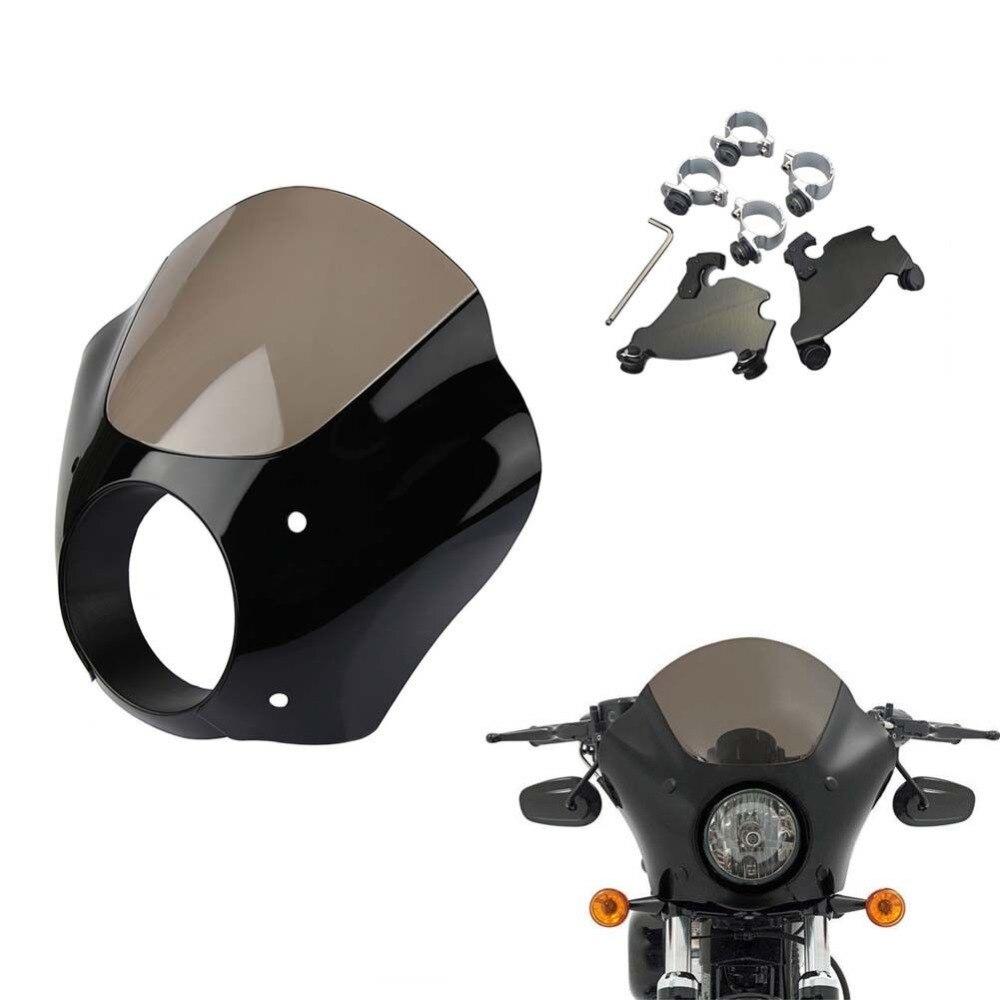 2 Colori Del Faro Del Motociclo Guanto di Sfida carena martello kit di montaggio per Harley Sportster XL 883 1200 ferro personalizzato basso 1986-2015