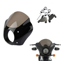 2Colors Motorcycle Headlight Gauntlet fairing hammer mounting kit for Harley Sportster XL 883 1200 custom iron low 1986 2015