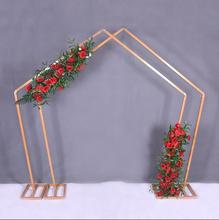 Pentagonal Iron Art Arch Stage Decoration Special-shaped Frame Geometric Forest Wedding Projects