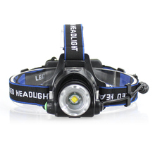 LED Headlamp Cree XML-T6 Waterproof led 2000LM rechargeable Head lamps No 2*18650 batteries 3 Modes Headlight Zoomable Torch