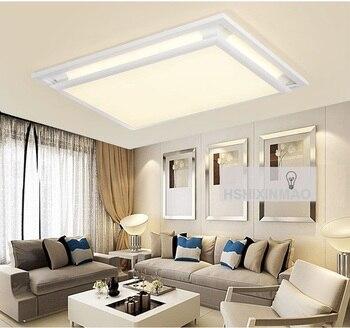 Led acrylic rectangular living room ceiling lamp creative home European square bedroom study Ceiling lights AC100-240V