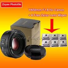 YONGNUO Lens YN50mm F1.8 YN EF 50mm f/1.8 AF Lens YN50 Aperture Auto Focus Lens for Canon EOS 60D 70D 5D2 5D3 600d DSLR Cameras yongnuo extender yn 2 0xiii 2x magnification teleconverter auto focus mount lens for canon eos ef lens