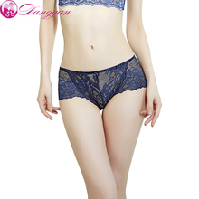 Womens Sexy Full Lace Panties High Quality Transparent Floral Soft Briefs ladies Lingerie Mid Rise Women Underwear