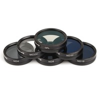 6Pcs Filters Set ND4 ND8 ND16 ND32 MCUV CPL Multi layer Coating Lens Filter Kit for