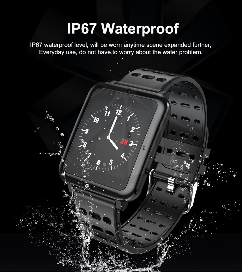 T2 Smartwatch IP67 Waterproof Wearable Device Bluetooth Pedometer Heart Rate Monitor Color Display Smart Watch For AndroidIOS (6)