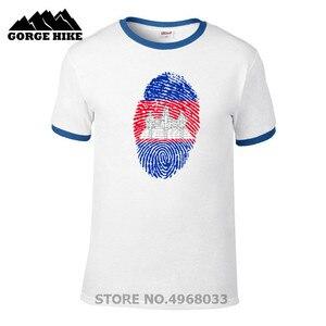 Aniversário Venda Barato Camboja Bandeira da Festa de Aniversário de Impressão Digital Popular Unisex Dos Homens T-shirt O-pescoço camisa de Manga Curta T Top Tees