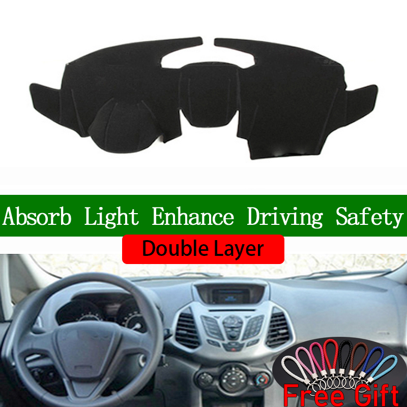 Double Layer Car Stickers For Ford ecosport 2013 2014 2015 2016 2017 Dashboard Cover Car Accessories Interior Anti UV Car Decals Car Stickers    - title=