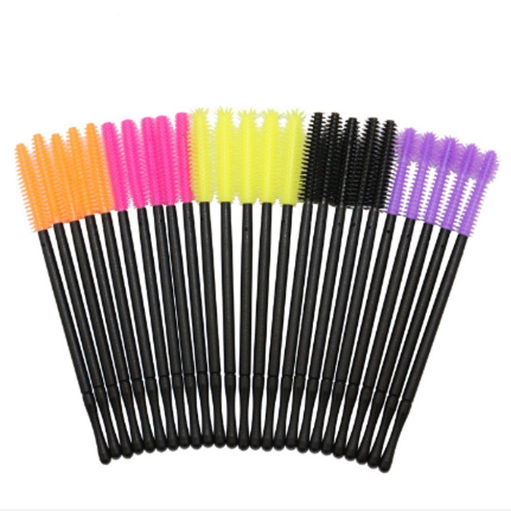 50 teile/los Einweg Silikon Gel Wimpern Pinsel Kamm Mascara Zauberstäbe Auge Wimpern Verlängerung Werkzeug Professional Beauty Make-Up Werkzeug