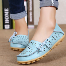 Woman Flats Moccasins women genuine leather shoes Loafers Woman Shoes Leisure Flats Casual Shoes