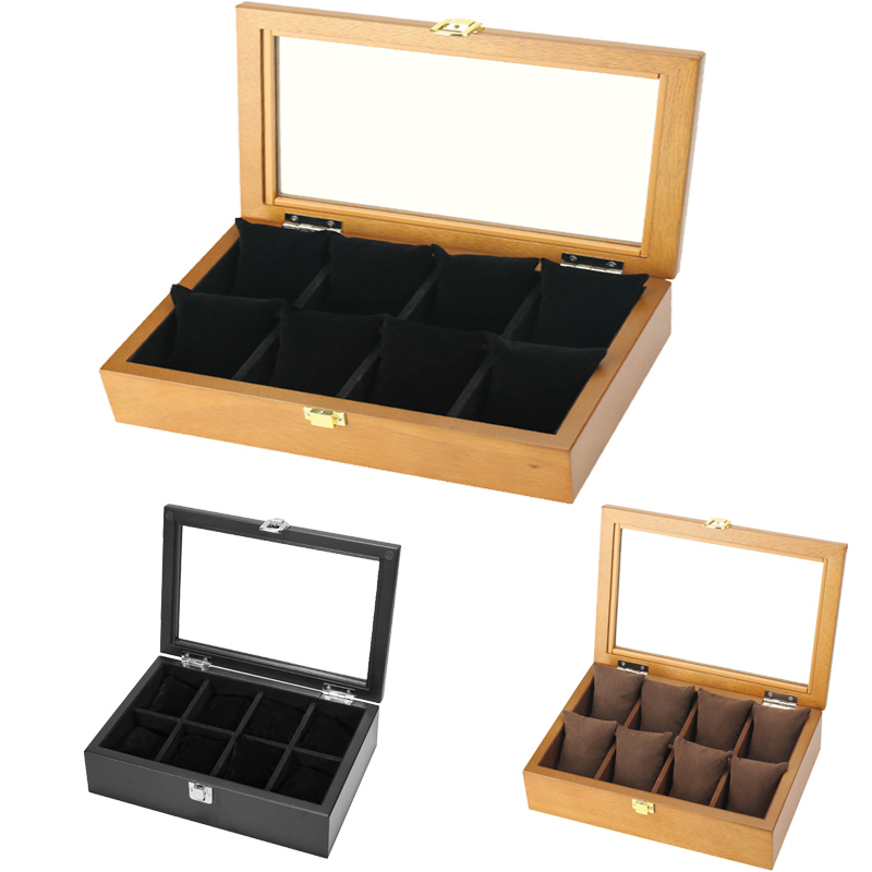 2020 Luxury 8 Grids Handmade Wood Watch Box Wood Clock Box Watch Case Time Box for Watch Holding2020 Luxury 8 Grids Handmade Wood Watch Box Wood Clock Box Watch Case Time Box for Watch Holding