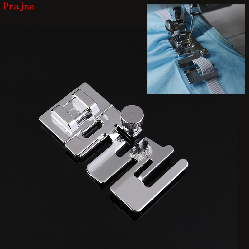 Prajna Sewing Machine Elastic Fabric Presser Foot Fast Inset With Elastic Band Trim Lace Stitching Cloth Household Knitting Tool